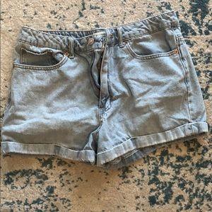 Vintage Jean Cuff High Waisted Shorts